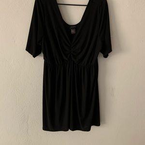 Sheer black babydoll top